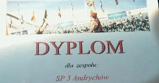 Mistrzostwo Małopolski w Piłce Plażowej Chłopców dla drużyny Szkoły Podstawowej nr 3.