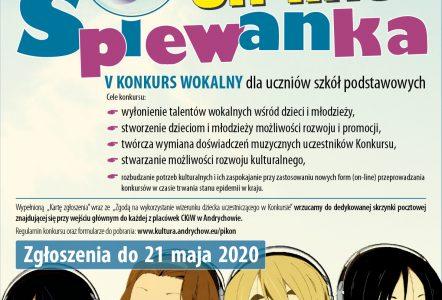 Konkurs wokalny – on – line!